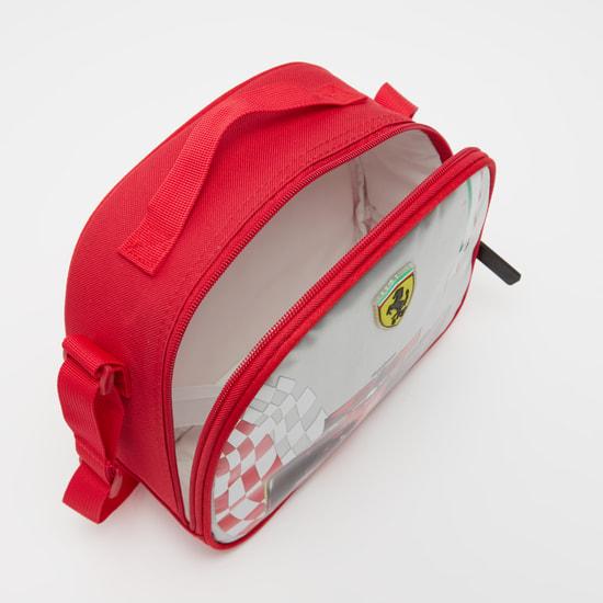 Ferrari Print Lunch Bag with Adjustable Strap
