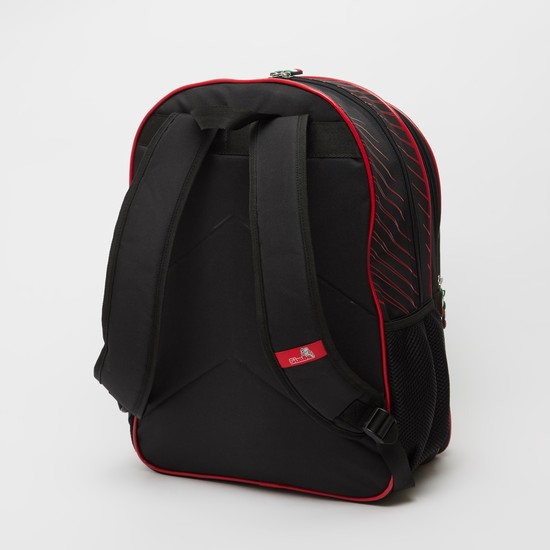 Ferrari Textured Backpack with Adjustable Shoulder Straps - 18 Inches