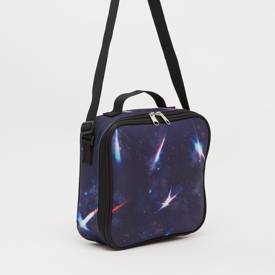 Printed 3-Piece Trolley Backpack Set - 18 Inches