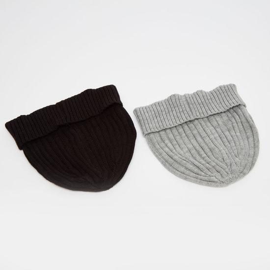 Set of 2 - Ribbed Beanie Cap