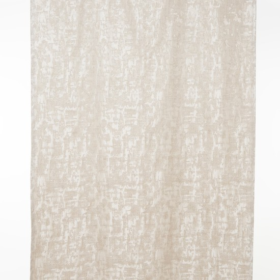 2-Piece Textured Jacquard Curtain with Eyelet Rings - 135x240 cms