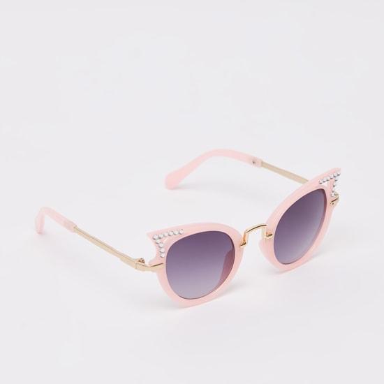 نظارة شمسية بتفاصيل مرصعة ووسادات للأنف
