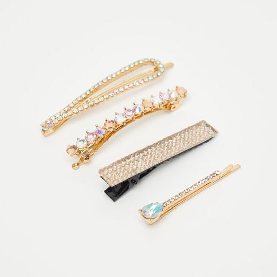 Set of 4 - Embellished Hair Clip