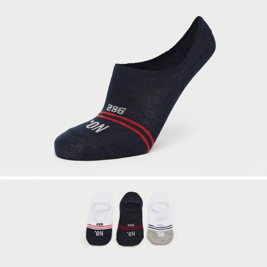 جوارب غير مرئية بطبعات وحواف مطّاطية - طقم من 3 أزواج