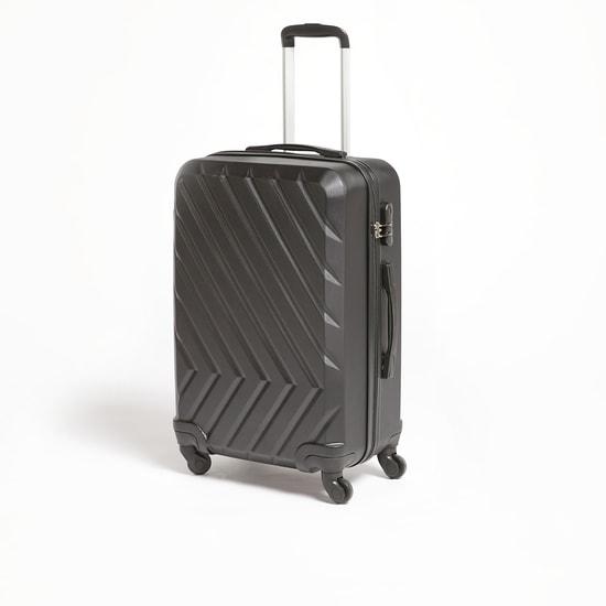 شنطة سفر صلبة متعدّدة التصاميم بمقبض قابل للسّحب وعجلات - 44x27x64 سم