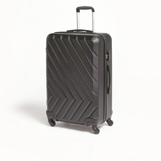شنطة سفر ترولي صلبة بارزة الملمس بمقبض قابل للسّحب - 50x29x74 سم
