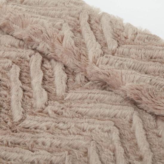 بطانية خفيفة فردية مستطيلة بملمس شيفرون - 152x127 سم
