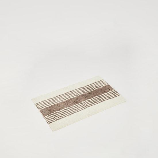 سجادة حمام مخططة بارزة الملمس - 80x50 سم