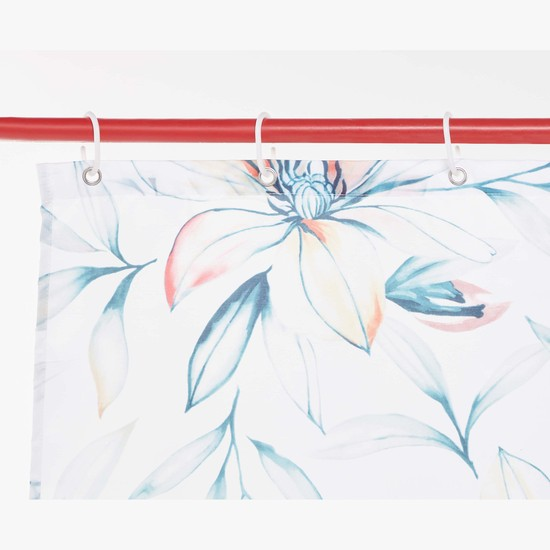 Floral Print Shower Curtain - 180x180 cms