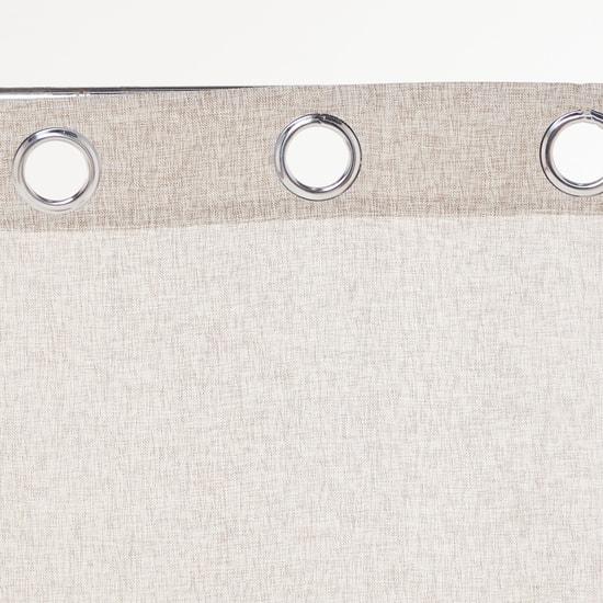 Textured 2-Piece Eyelet Curtain Set - 270x140 cms