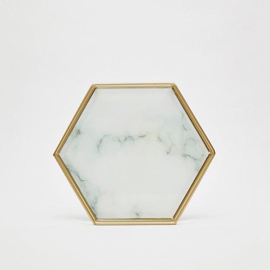 Hexagonal Marble Tray