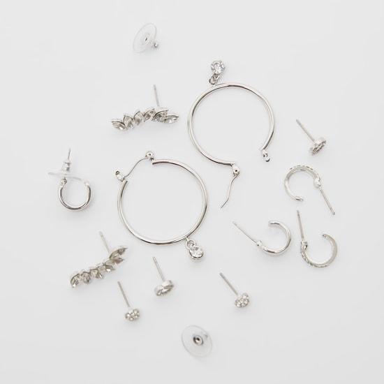 Set of 6 - Stud Detail Earrings