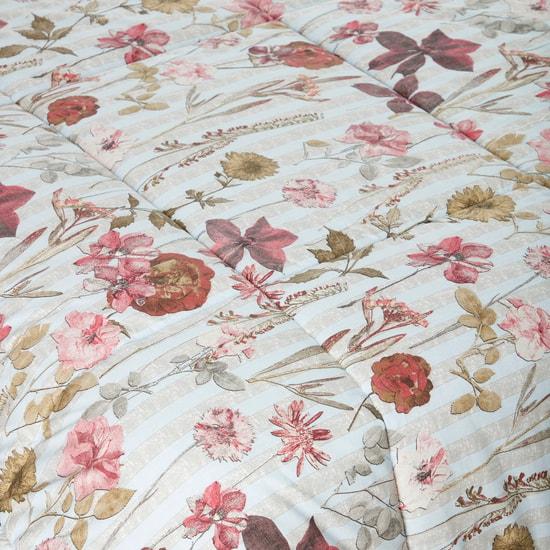 طقم لحاف 3 قطع بطبعات أزهار - 230x220 سم