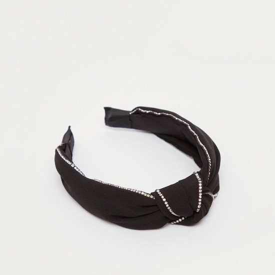 Stud Detail Hairband with Front Knot