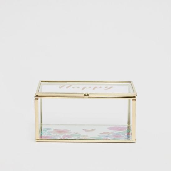صندوق ديكور مستطيلي بطبعات