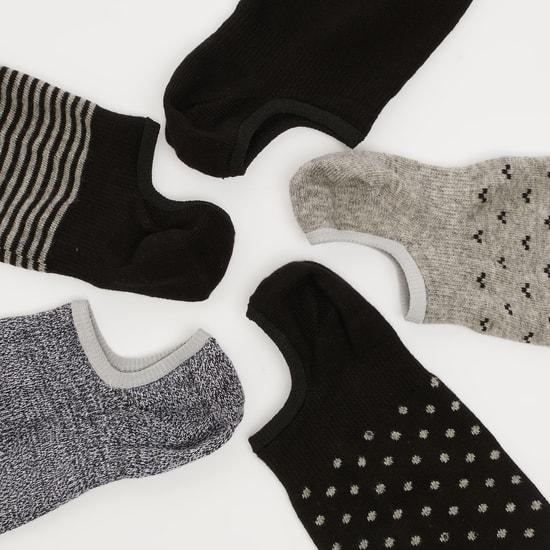 جوارب غير مرئية بحواف مطّاطية - طقم من 5 أزواج