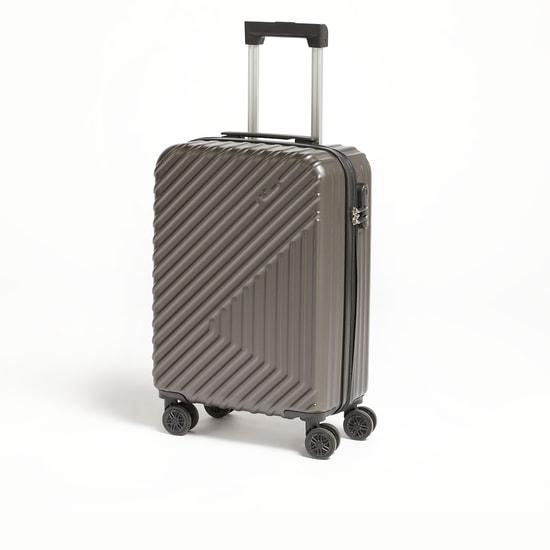 شنطة سفر ترولي صلبة بارزة الملمس بمقبض قابل للسّحب - 37x22x56 سم