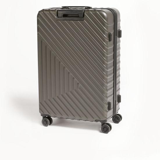 شنطة سفر صلبة بارزة الملمس بمقبض قابل للسّحب وعجلات - 49x29x76 سم