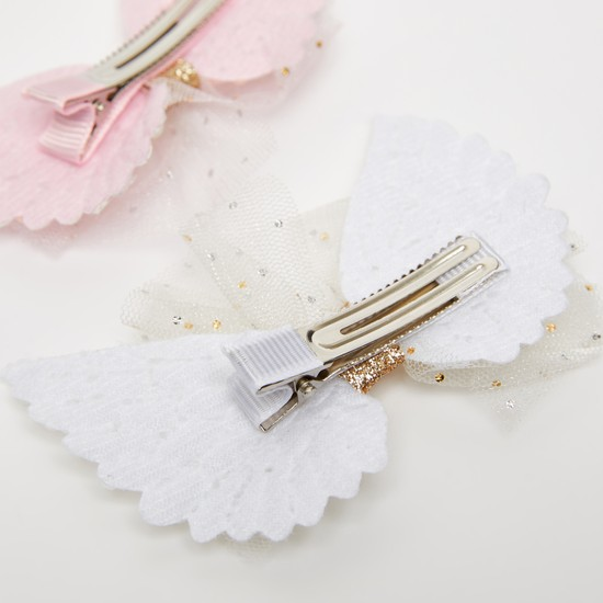 Set of 2 - Wings Applique Detail Hairpins