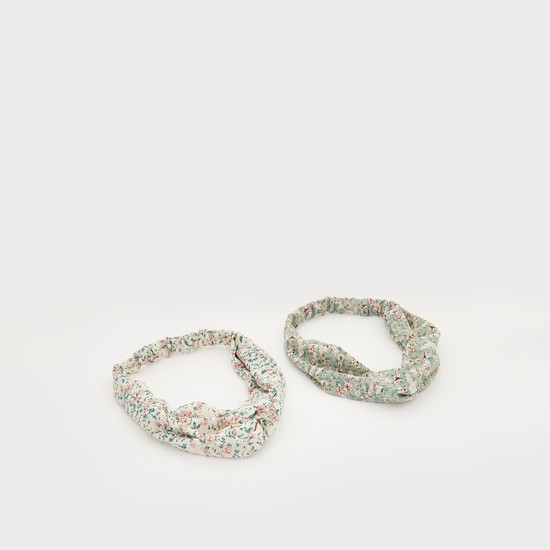 Set of 2 - Floral Print Hairband