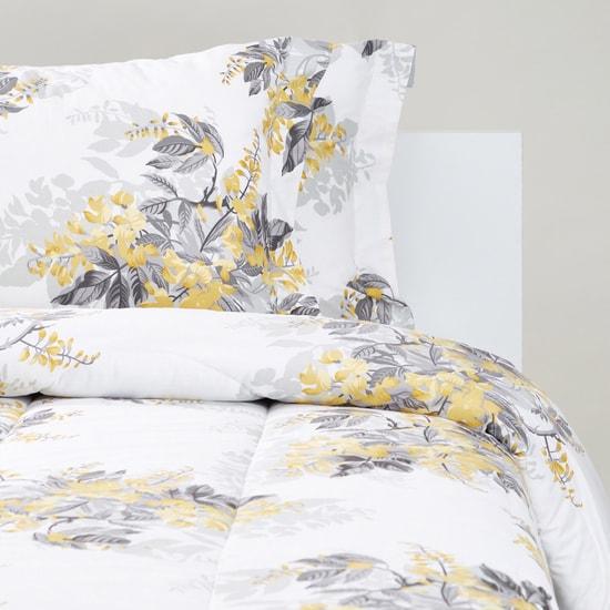 Floral Print 2-Piece Single Size Comforter Set - 220x160 cms