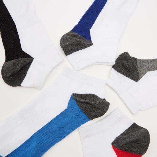 جوارب رياضية بطول الكاحل - طقم من 5 أزواج