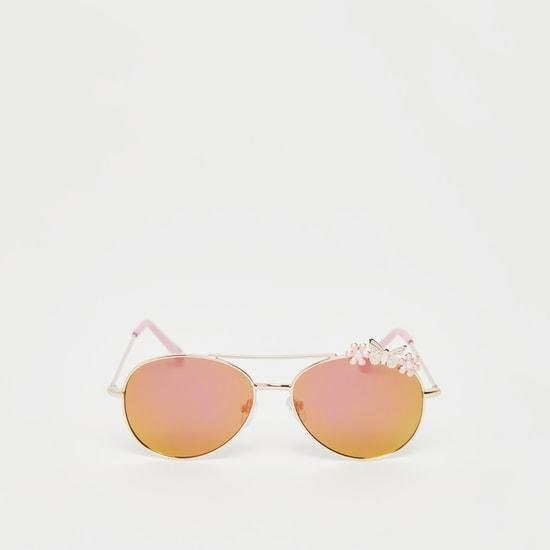 نظارة شمسية أومبير مظللة بزهرة وفراشة