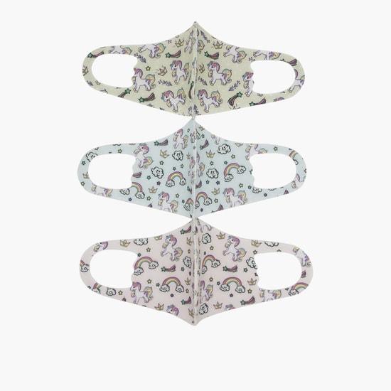 Set of 3 - Unicorn Print Anti-Dust Reusable Face Mask