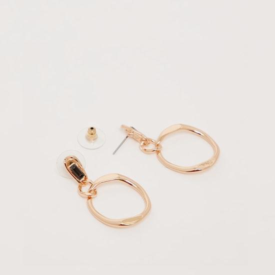 Patterned Short Dangler Earrings with Push Back Closure