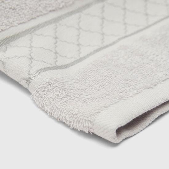 منشفة يد مستطيلة بارزة الملمس مع تصاميم متعدّدة - 50x80 سم