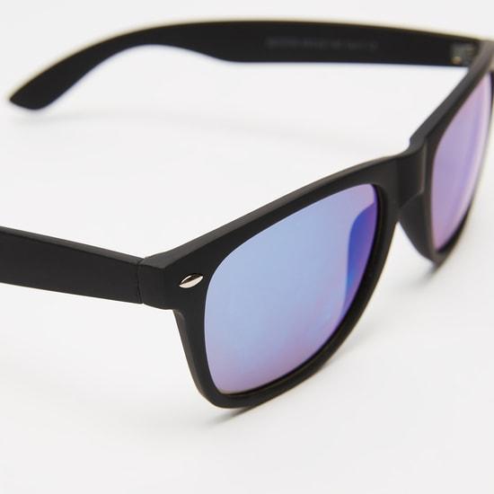 نظارة شمسية بلاستيك مستطيلة سادة مع وسادات أنف