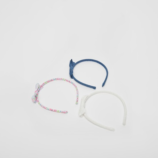 Set of 3 - Bow Applique Detail Hairband