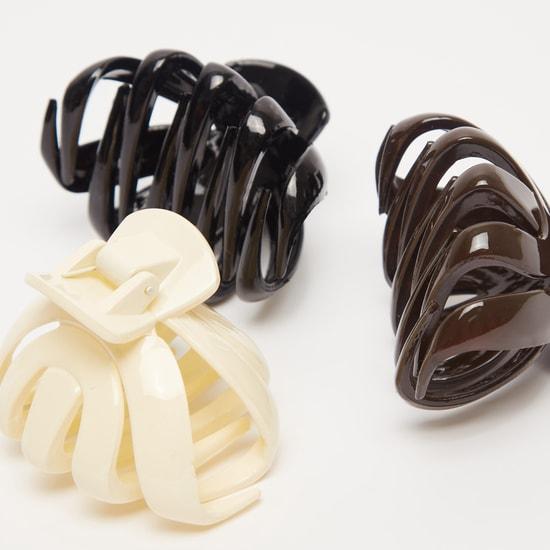 مشابك شعر متنوعة الألوان - طقم من ثلاث قطع
