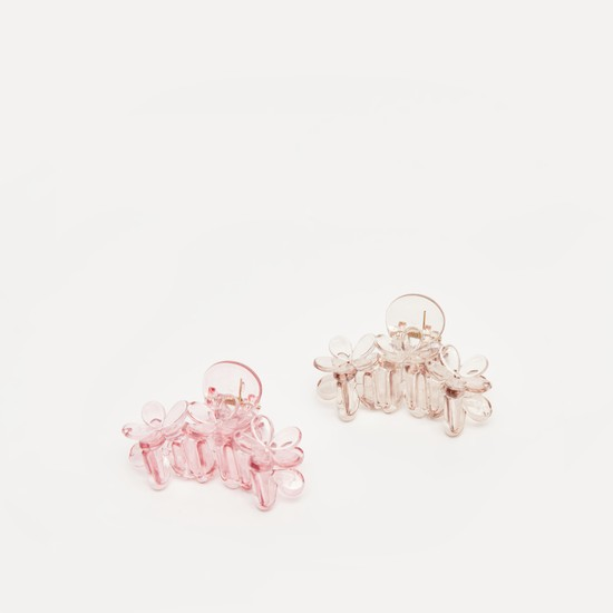 Set of 2 - Assorted Floral Hair Clamp