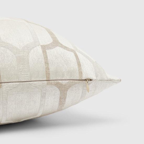 وسادة جاكار محشوة مربعة بسحاب إغلاق - 43x43 سم