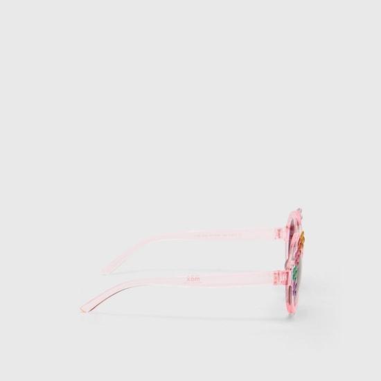 نظارة شمسية بإطار كامل مزين بالزهور