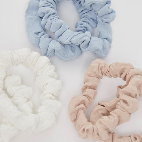 شريطة شعر مستديرة مطاطية - طقم من 6 قطع
