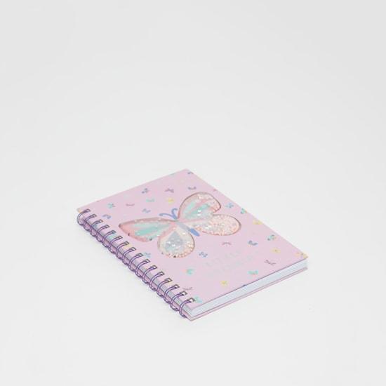 دفتر ملاحظات بطباعة فراشات