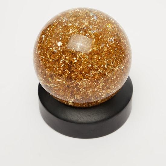 كرة أرضية ديكور بتفاصيل جليتر