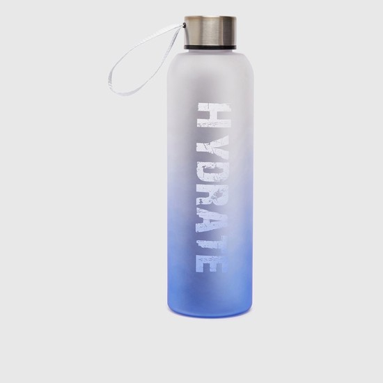 Text Print Water Bottle with Cap