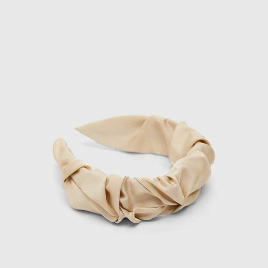 Crumpled Fabric Solid Broad Hairband