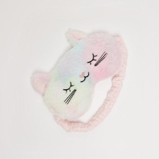 Embroidered Eye Mask with Elastic Band