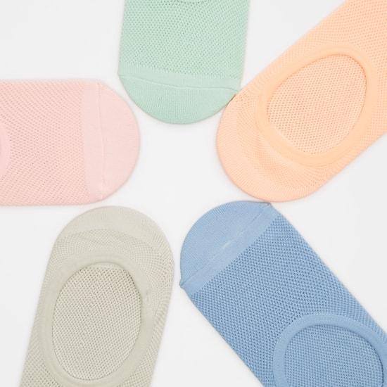 جوارب غير مرئية بارزة الملمس بمقدمة مستديرة - طقم من 5 أزواج