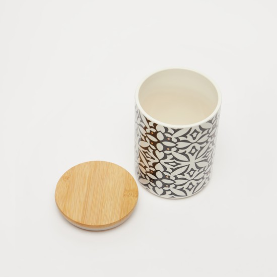 Printed Canister with Lid - 13.5x9.5 cms