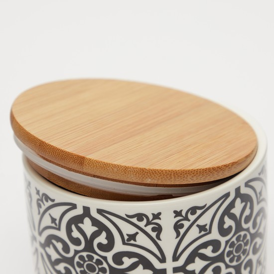 Printed Canister with Lid - 7.5x10.5 cms