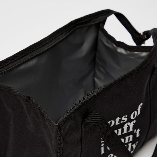 شنطة غداء بطبعات وحزام قابل للتعديل وسحاب إغلاق من توريتو