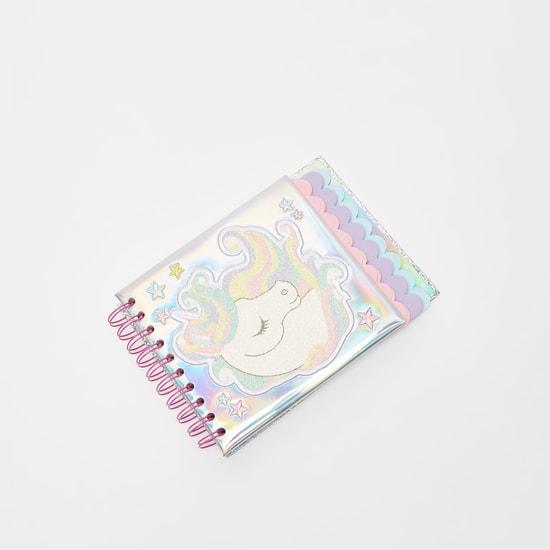 دفتر ملاحظات بسلك حلزوني وطبعات يونيكورن