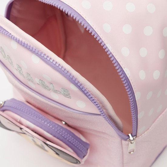 Minnie Mouse Applique Detail Backpack with Adjustable Straps