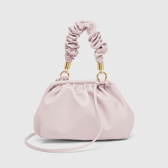 Textured Crossbody Bag with Handle and Strap