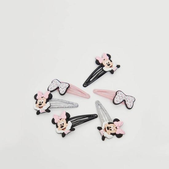 Set of 3 - Minnie Mouse Applique Detail Hair Clips